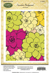 JustRite Stamps -  Succulent Background (CL-06001)