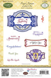 JustRite Stamps - Royal Antique Labels One (CL-03840)