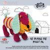 Knitty Critters Crochet Kit - Pocket Pals - Fig Sausage Dog