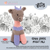 Knitty Critters Crochet Kit - Pocket Pals - Gemma Giraffe