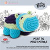 Knitty Critters Crochet Kit - Pocket Pals - Paisley Potamus