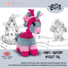 Knitty Critters Crochet Kit - Pocket Pals - Candy Unicorn