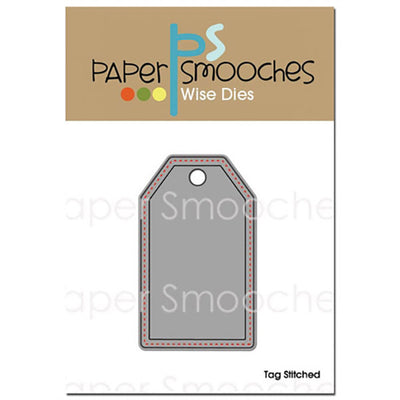Paper Smooches Dies - Stitched Tag