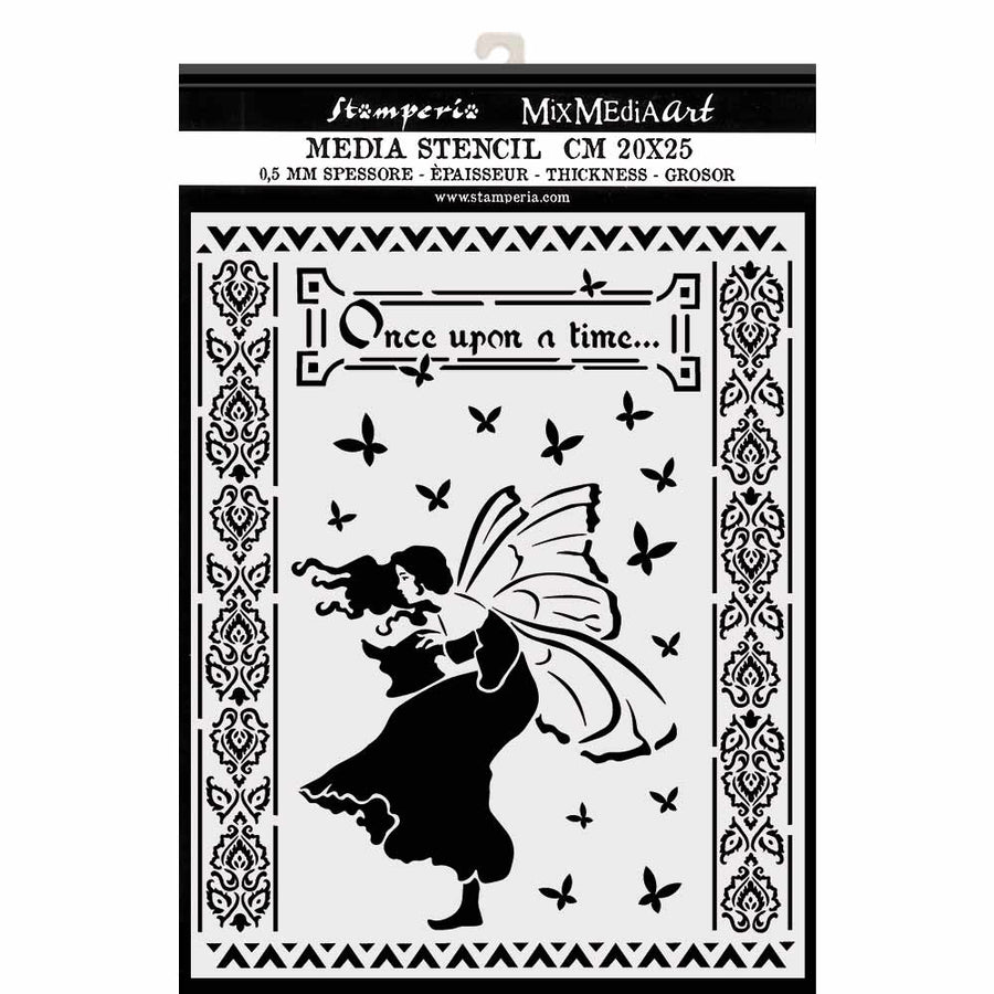 Stamperia - 20 x 25cm Thick Stencil - Once Upon A Time