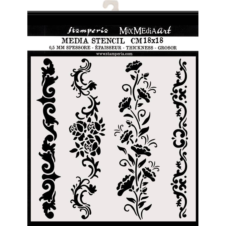 Stamperia - 20 x 25cm Thick Stencil - Garlands