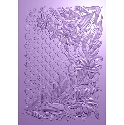 Nature's Garden Lily Collection - 3D Embossing Folder - Decadent Lilies