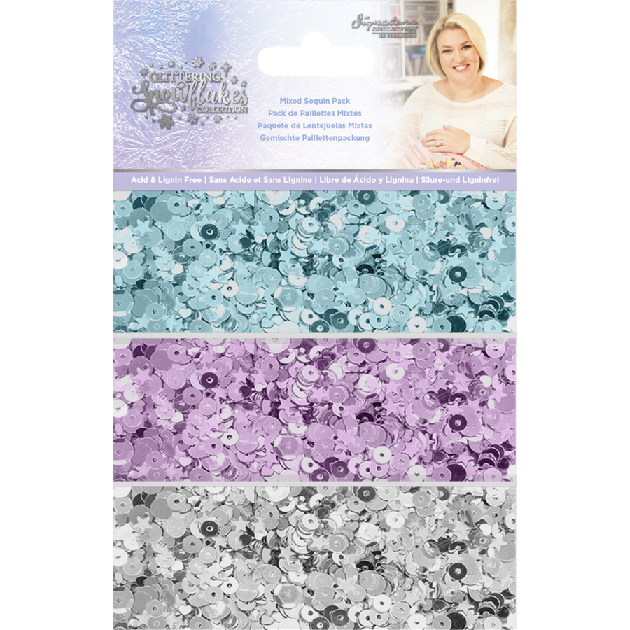Sara Signature Collection - Glittering Snowflakes - Mixed Sequin Pack