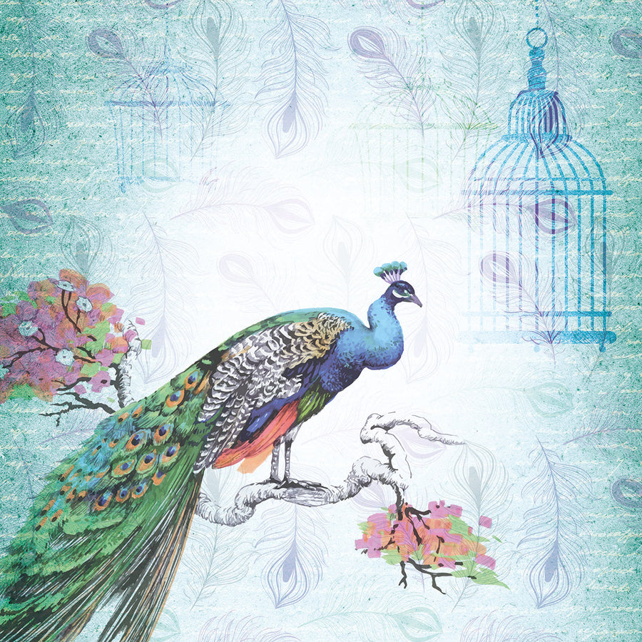 "Nature's Garden - Peacock Collection - 12 x 12"" Paper Pad"