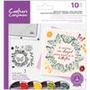 Crafters Companion - Photopolymer Stamp - Ornate Butterflies