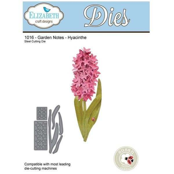 Elizabeth Craft Designs Dies - Garden Notes - Hyacinthe