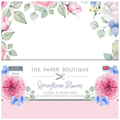 The Paper Boutique - Springtime Blooms 8x8 Card & Envelope Pack