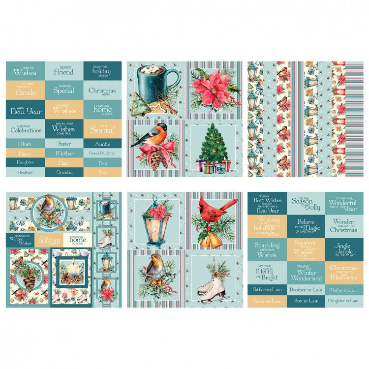 The Paper Boutique - A Traditional Christmas - 8x8 Embellishments Pad