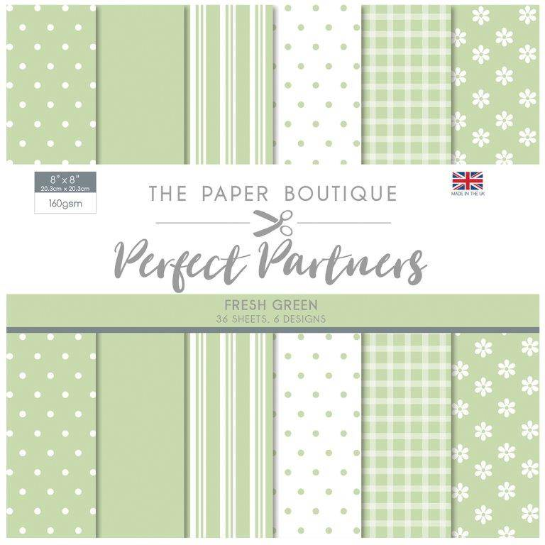 The Paper Boutique -  Perfect Partners 8x8 Paper Pad - Fresh Green - PB1279
