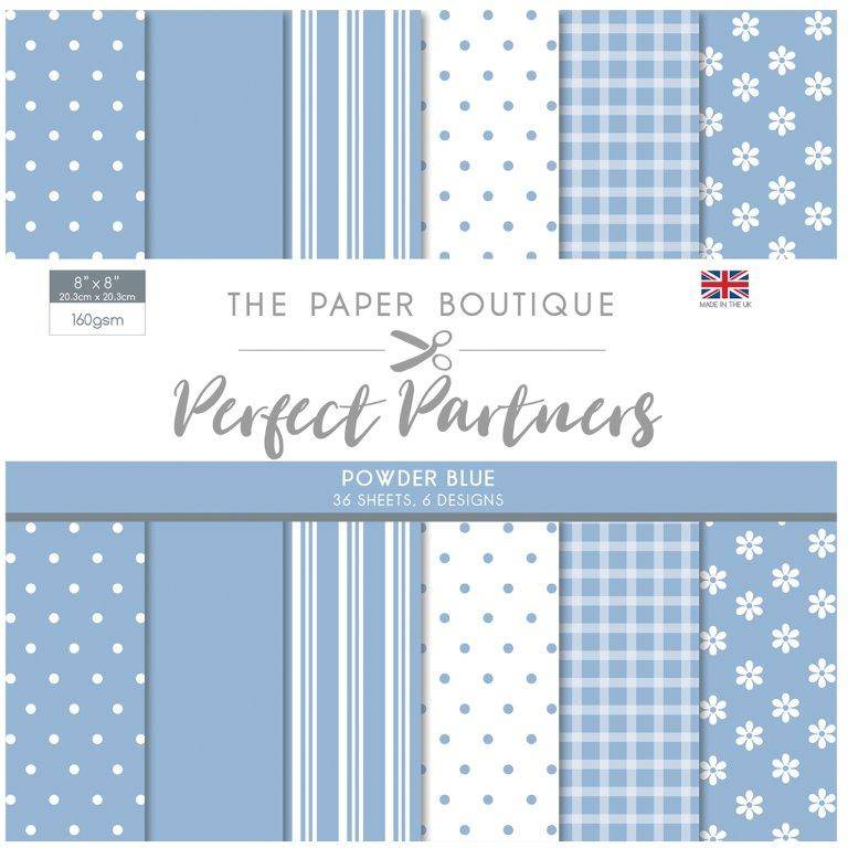 The Paper Boutique -  Perfect Partners 8x8 Paper Pad - Powder Blue - PB1280
