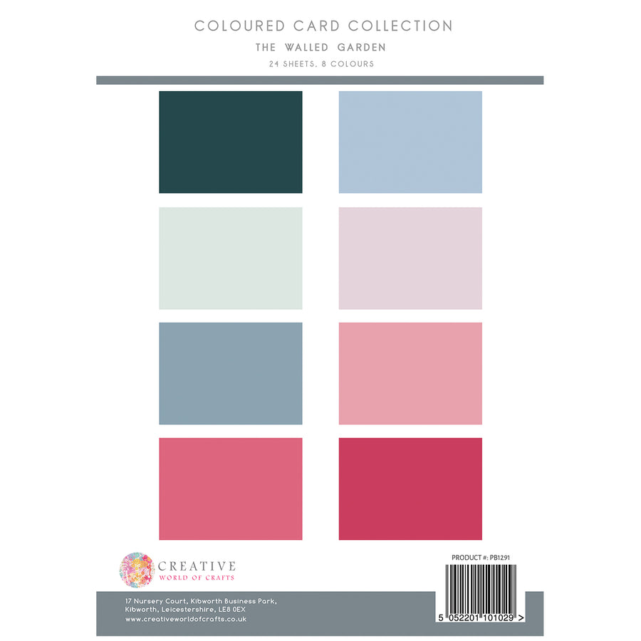 The Paper Boutique - The Walled Garden - Colour Card Collection - PB1291
