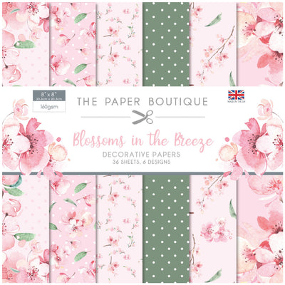 "The Paper Boutique - Blossoms in the Breeze - 8""x8"" Paper Pad - PB1293"
