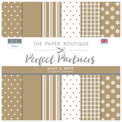 The Paper Boutique -  Perfect Partners 8x8 Paper Pad - Kraft - PB1318