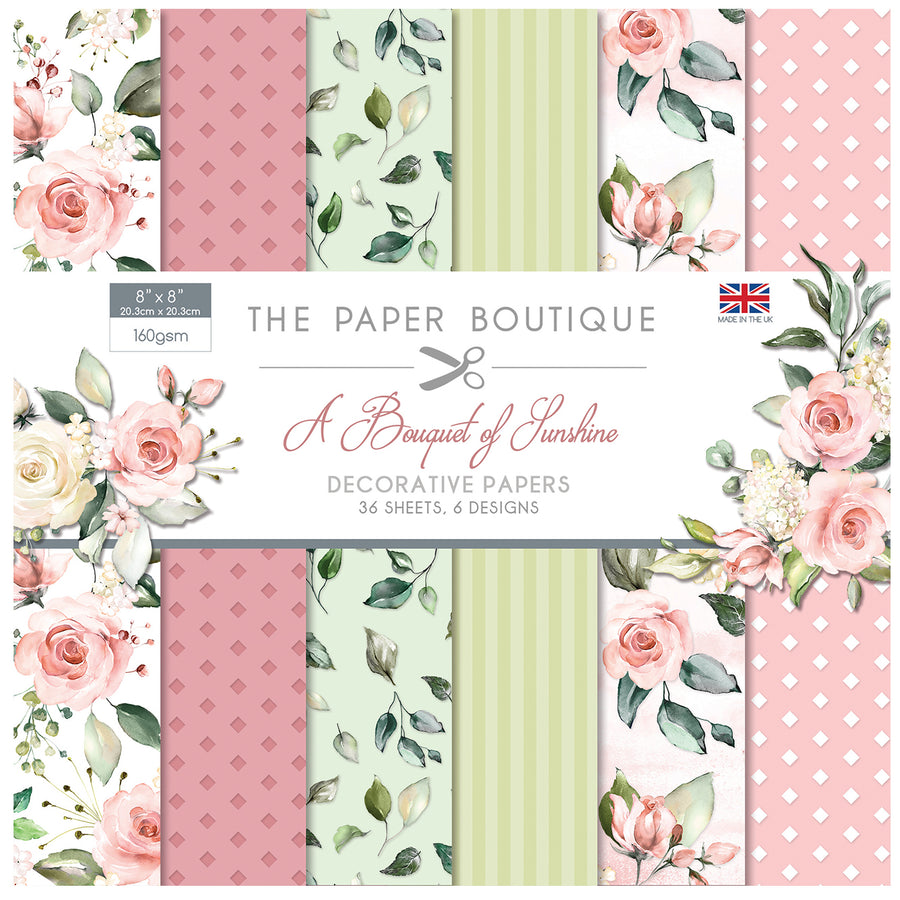 The Paper Boutique - A Bouquet of Sunshine - 8x8 Paper Pad