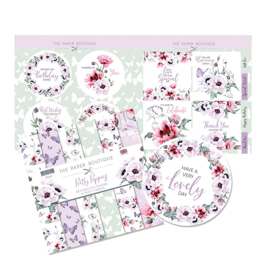 The Paper Boutique - Pretty Poppies - Paper Kit