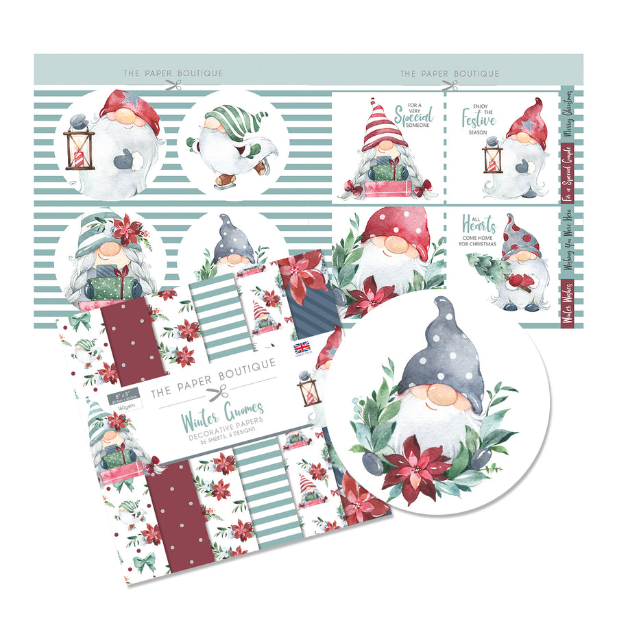 The Paper Boutique Winter Gnomes-Stamp Set Soft Christmas Colours A5