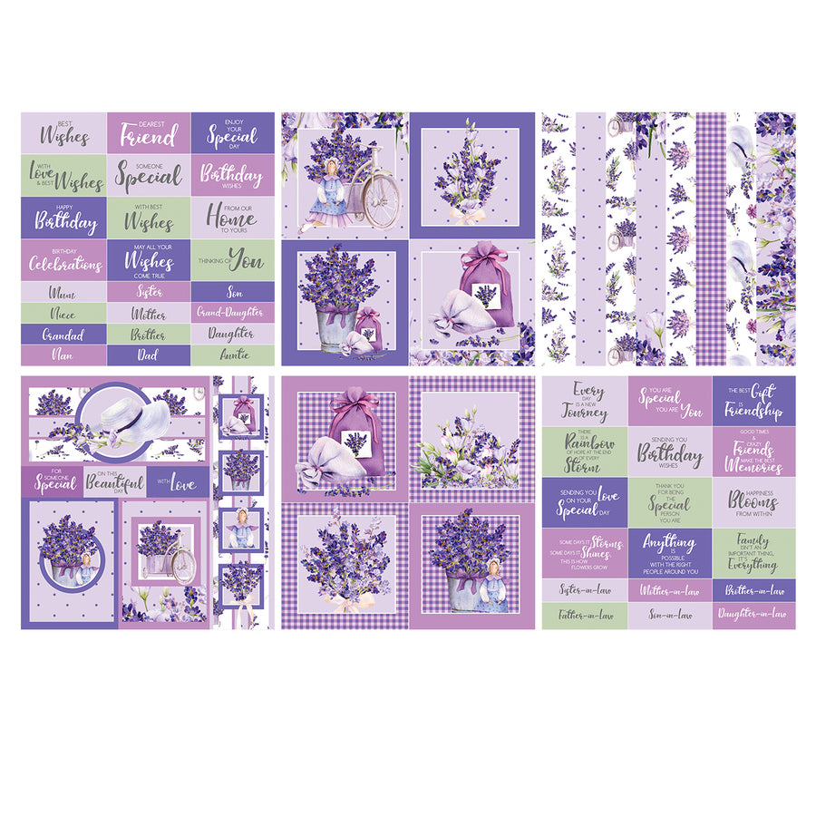 The Paper Boutique - Lavender Fields - 8x8 Embellishments Pad