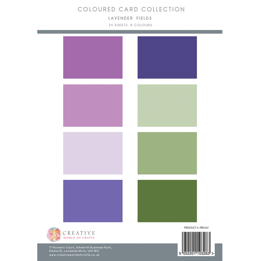 The Paper Boutique - Lavender Fields - Colour Card Collection