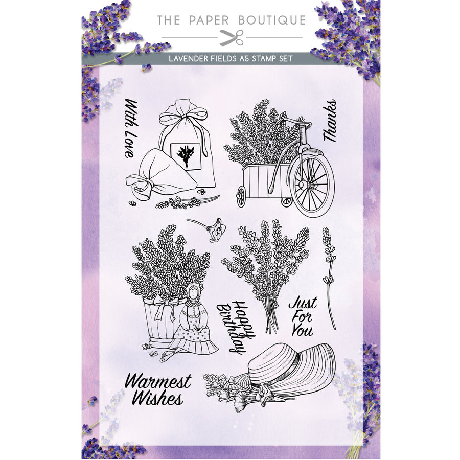 The Paper Boutique - Lavender Fields - A5 Stamp Set