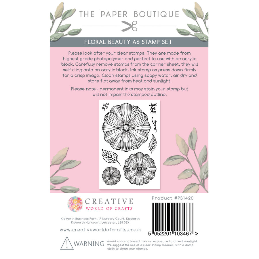 The Paper Boutique - Floral Blooms - A6 Stamp Set