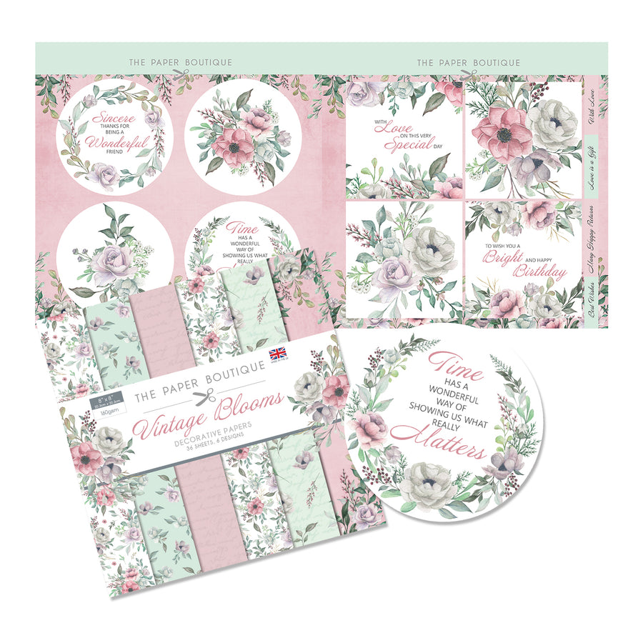 The Paper Boutique - Vintage Blooms - Paper Kit
