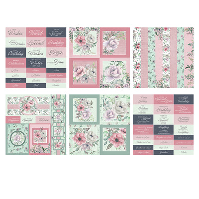 The Paper Boutique - Vintage Blooms - 8x8 Embellishments Pad