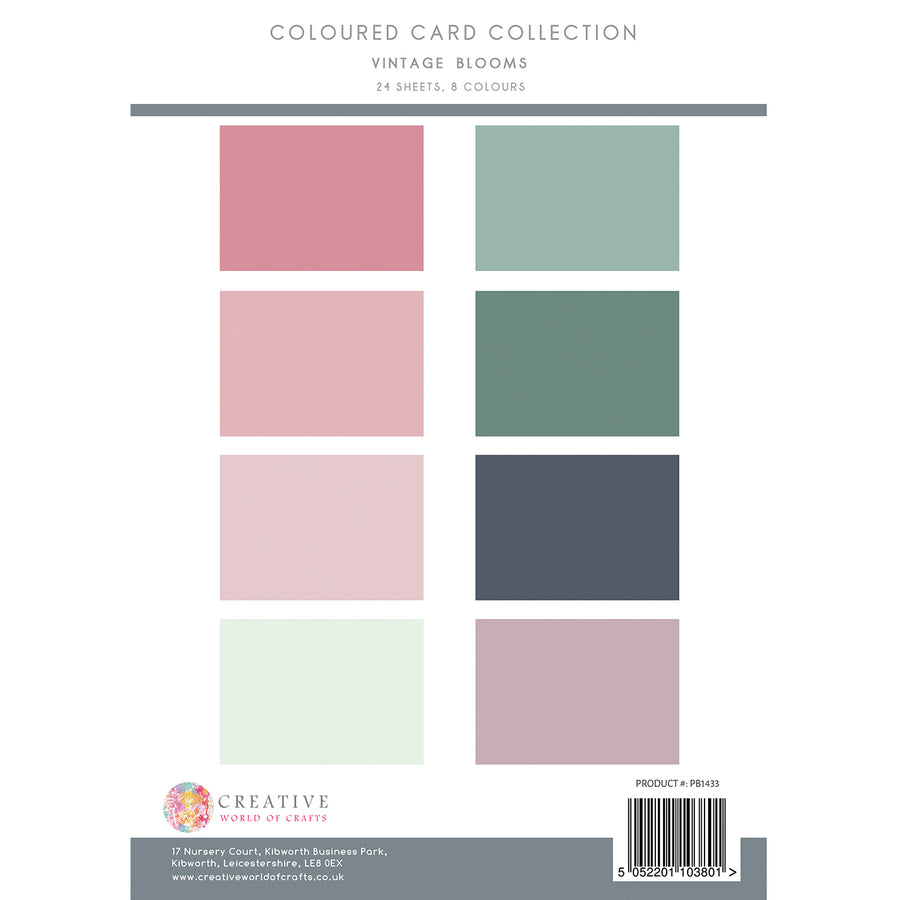 The Paper Boutique - Vintage Blooms - Colour Card Collection