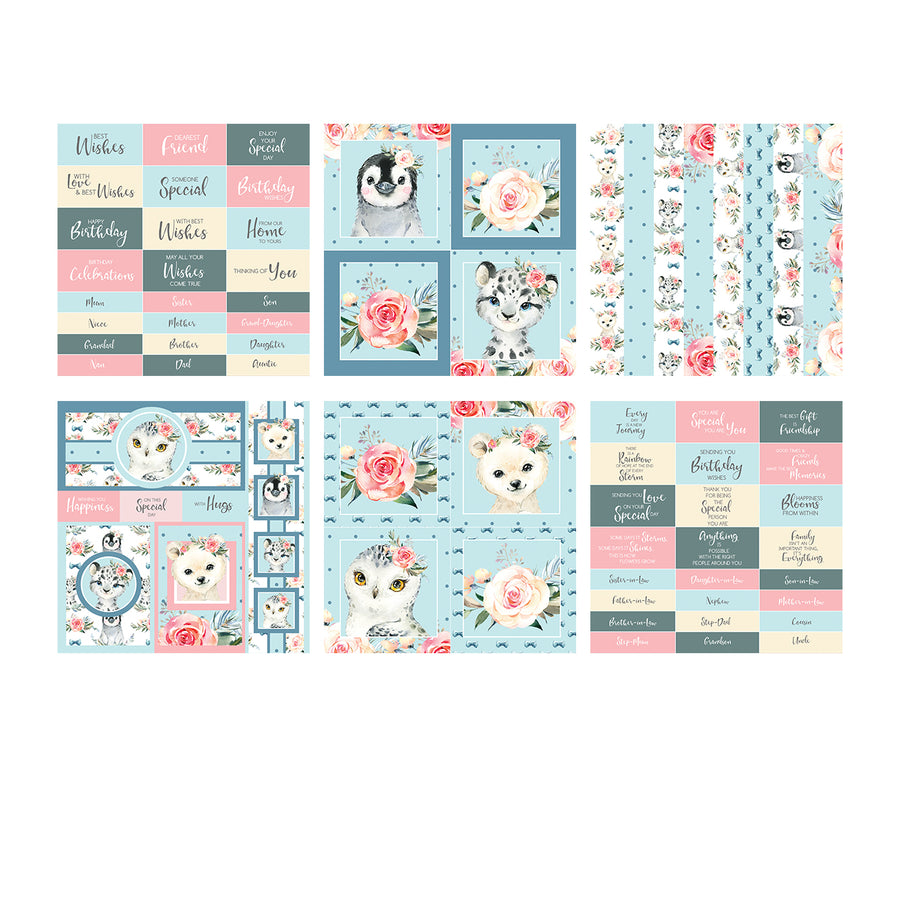 The Paper Boutique - Snow Buddies - 8x8 Embellishments Pad