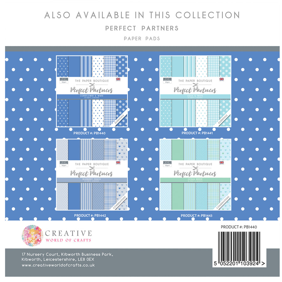 The Paper Boutique - Perfect Partners 8x8 Paper Pad - Cornflower - PB1440