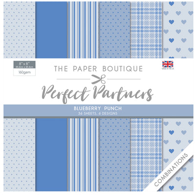 The Paper Boutique - Perfect Partners 8x8 Paper Pad - Blueberry Punch - PB1442
