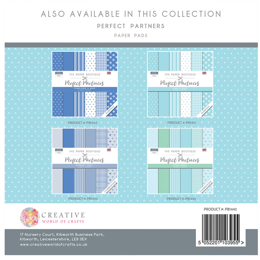 The Paper Boutique - Perfect Partners 8x8 Paper Pad - Ocean Breeze - PB1443
