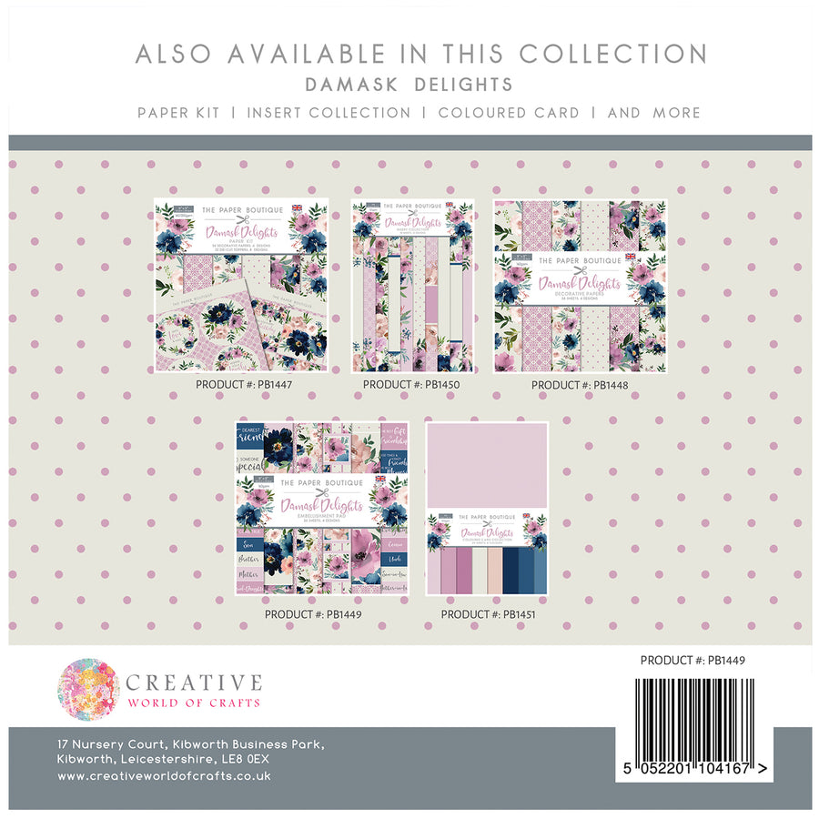 The Paper Boutique - Damask Delights - 8x8 Embellishments Pad