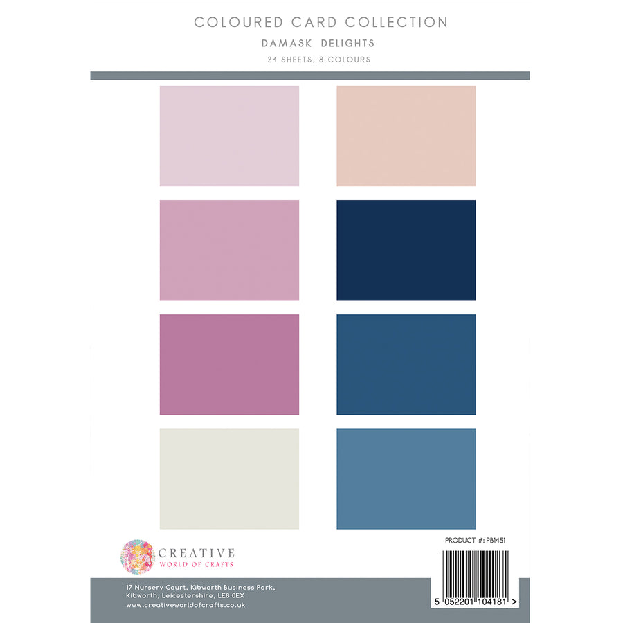The Paper Boutique - Damask Delights - Colour Card Collection