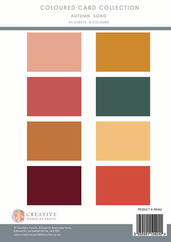 The Paper Boutique - Autumn Song - Colour Card Collection