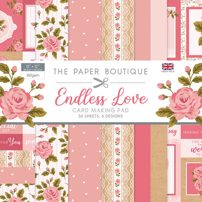 The Paper Boutique - Endless Love - 12x12 Card Making Pad