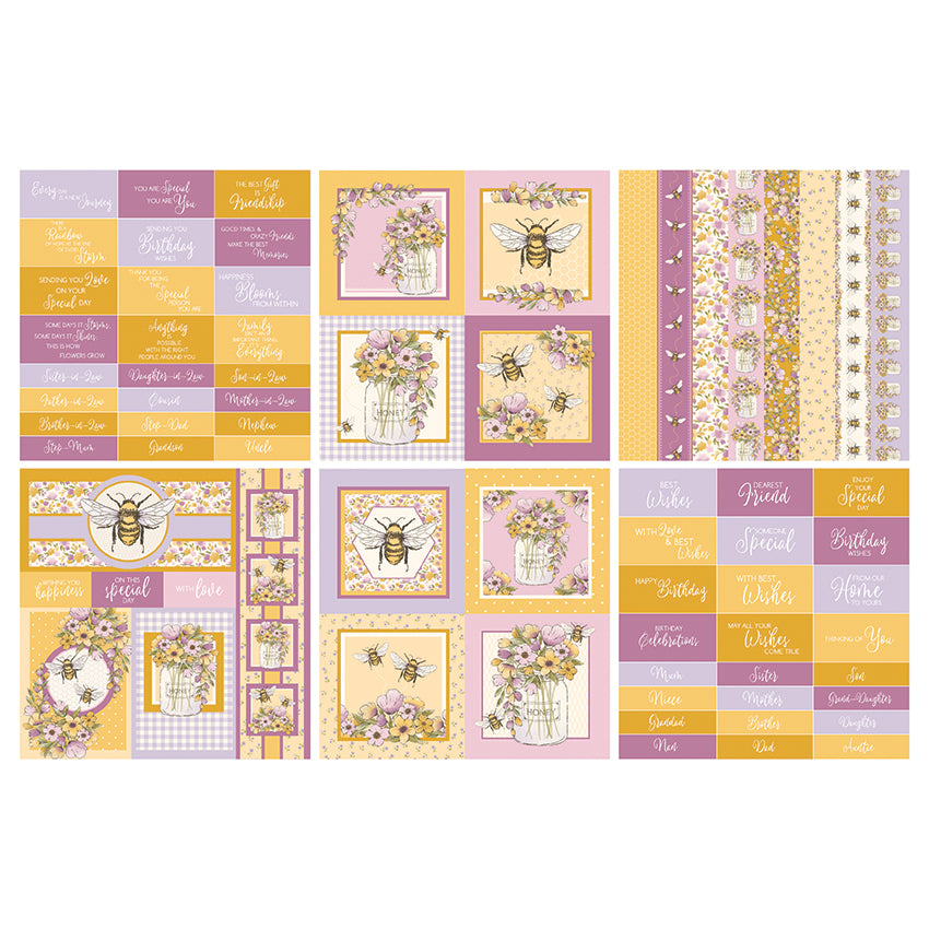 The Paper Boutique - Bumblebees Dance - 8x8 Embellishments Pad