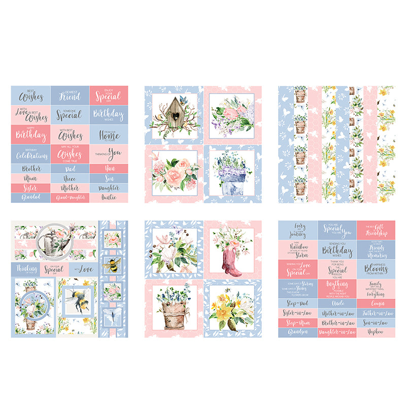 The Paper Boutique - Spring Whispers - 8x8 Embellishments Pad