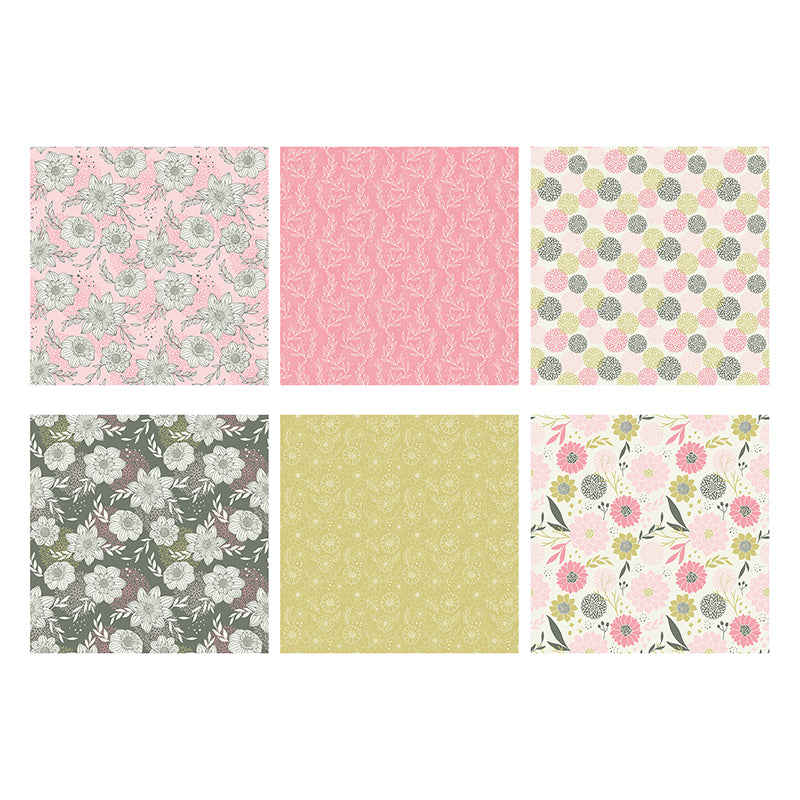 The Paper Boutique -  Perfect Partners 8x8 Paper Pad - Apple Blossom Florals - PB1508