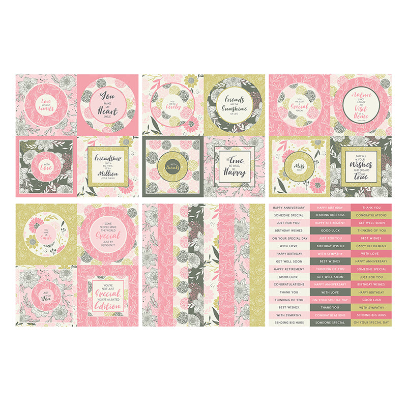 The Paper Boutique -  Perfect Partners 8x8 Paper Pad - Apple Blossom Toppers - PB1510