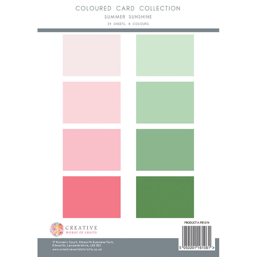 The Paper Boutique - Summer Sunshine - Colour Card Collection