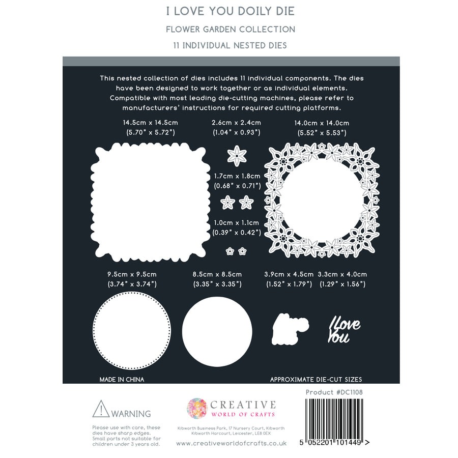 The Paper Boutique Die - I Love You - PBDC1108