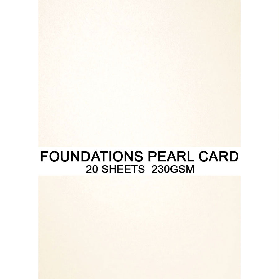 Foundations Pearl Card by Creative Expressions - Icicle - A4