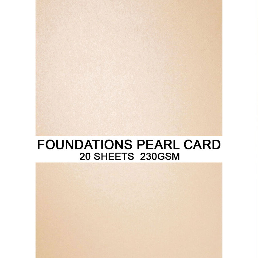 Foundations Pearl Card by Creative Expressions - Vanilla - A4