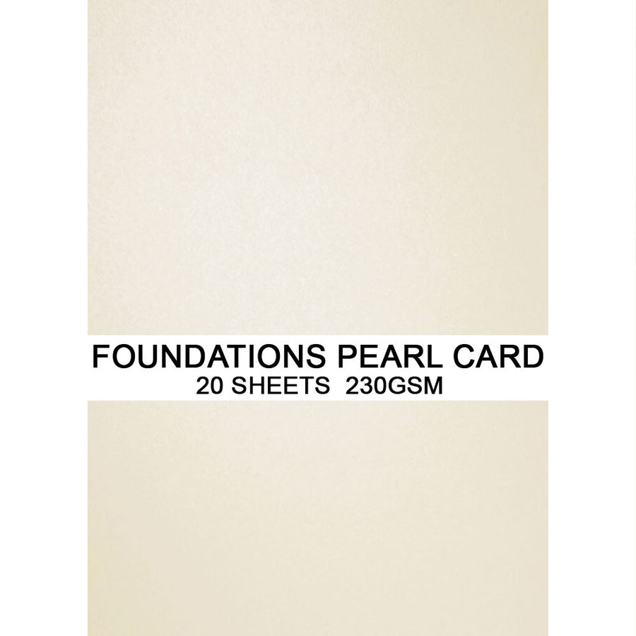 Foundations Pearl Card by Creative Expressions - Ivory - A4