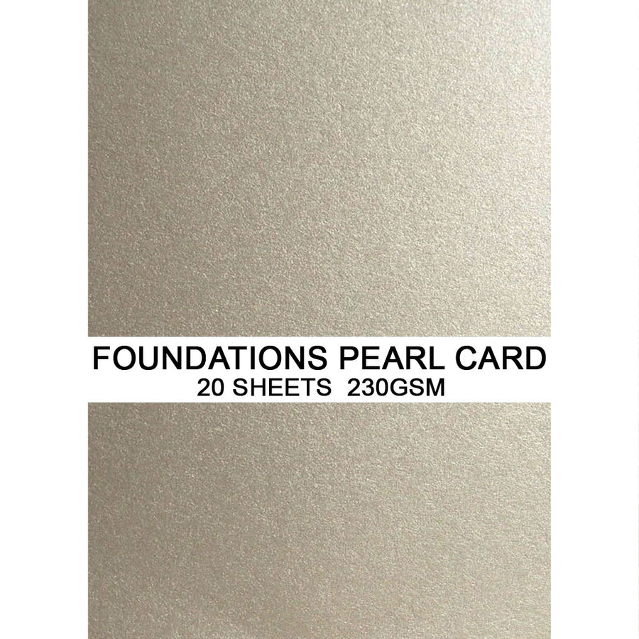 Foundations Pearl Card by Creative Expressions - Silver Shine - A4