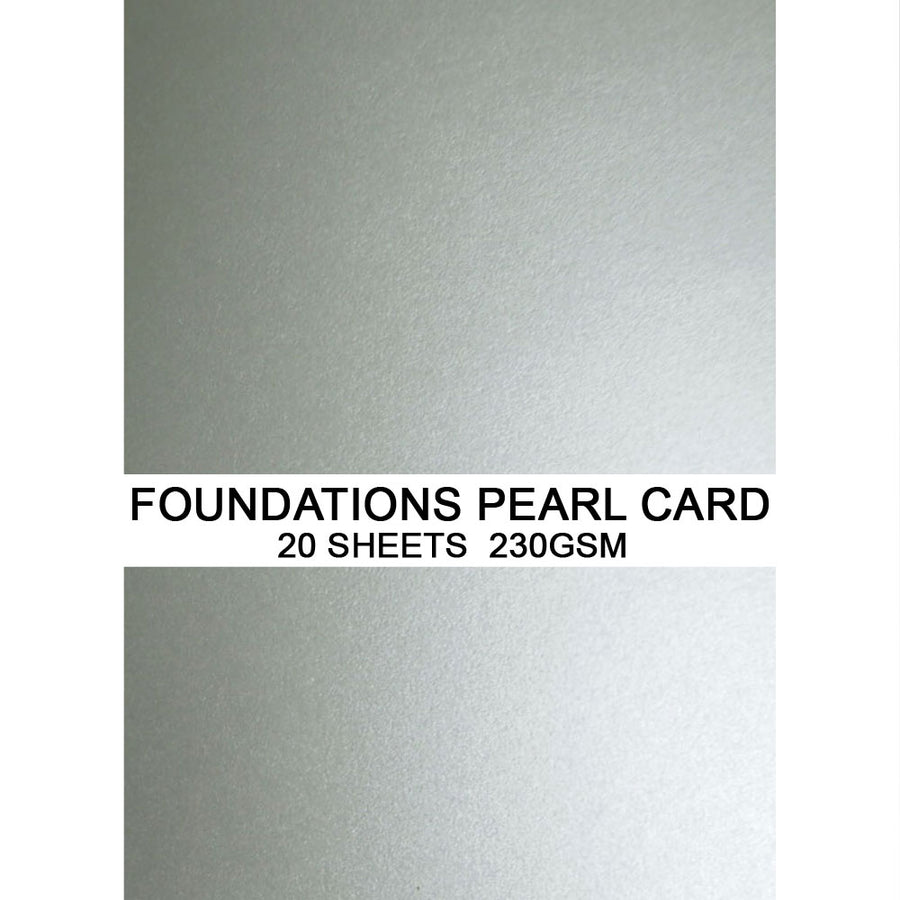 Foundations Pearl Card by Creative Expressions - Steel - A4